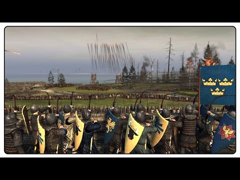 INSANE 16,000 MAN SWEDISH DEFENSE - Medieval Kingdoms Total War Gameplay