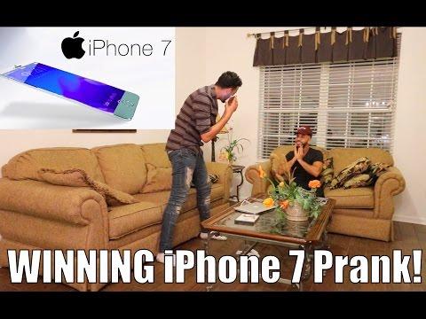Winning Free iPhone 7 Prank!