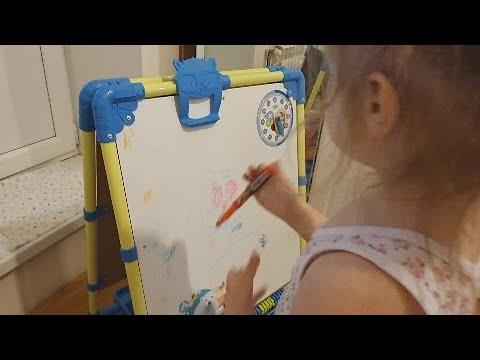 Влог. Ребенку 2,5 года. Купили Мольберт - Доску для рисования