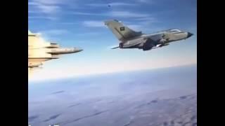 طيار سعودي محترف يتصدى لصاروخ موجه من الحوثي للسعوديه