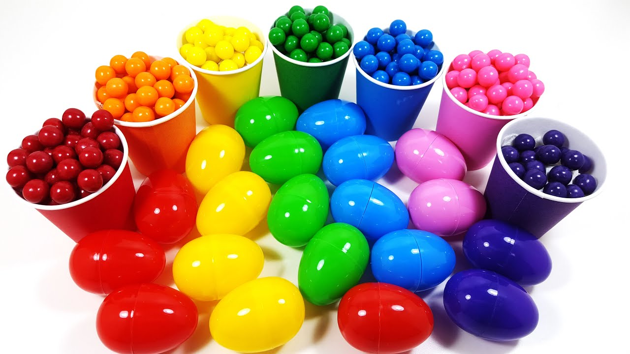 Learn Colours With egg and Candy!! Fun Learing!! 영어로 배우는 색깔놀이