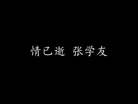情已逝 张学友 (歌词版)