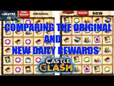 New Daily Rewards Vs Old Daily Rewards (comparison)  Castle Clash CC