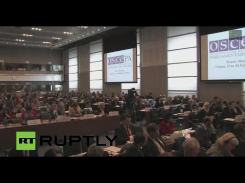 LIVE: OSCE Parliamentary Assembly meet in Vienna to discuss Ukraine