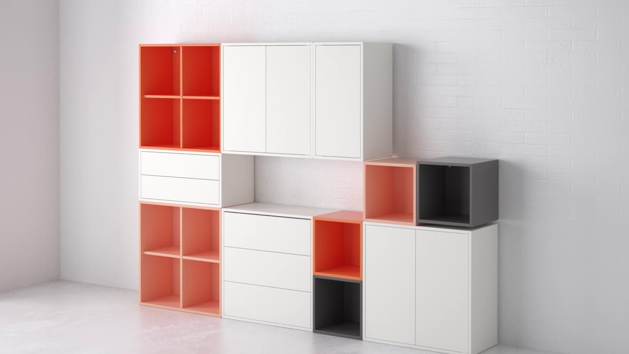 almacenaje con el sistema eket ikea youtube. Black Bedroom Furniture Sets. Home Design Ideas