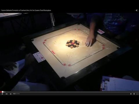 Carrom Nishanta Fernando vs Prashant More 3rd Set Quarter Final Birmingham