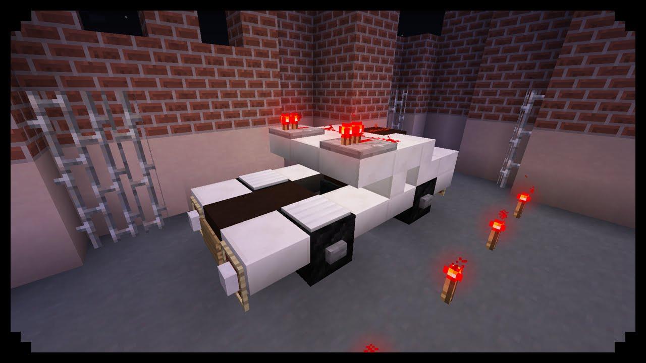 minecraft how to make a police car doovi. Black Bedroom Furniture Sets. Home Design Ideas