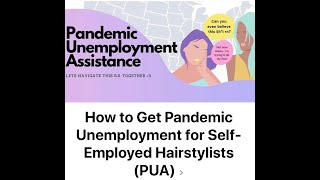 """Founder of FB Group, """"How to Get Pandemic Unemployment for Self-Employed Stylists"""""""