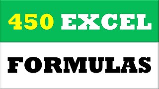 Learn 450 excel formulas and functions in one video
