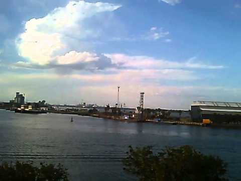Evening over Newcastle harbour NSW
