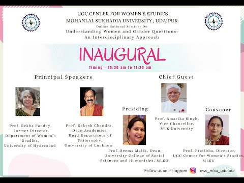 Online National Seminar on Understanding Women and Gender Questions: An Interdisciplinary Approach on 15.06.2021