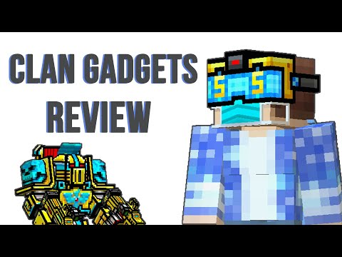 ALL NEW CLAN GADGETS REVIEW PIXEL GUN 3D