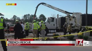 Worker missing in trench collapse at Wake County construction site