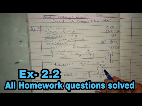 Exercise 2.2 (All Homework Questions Solved) maths class 10 || NCERT