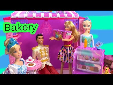 Disney Frozen Queen Elsa Barbie Doll Shopkins Season 2 Malibu Ave Bakery Life in the Dreamhouse Play