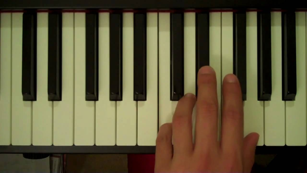 B Flat Chord Piano Left Hand How To Play a C...