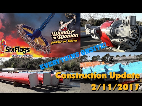 Wonder Woman Lasso of Truth Construction Update 2/11/2017 Six Flags Discovery Kingdom