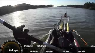 Speedtest in Perception Pescador 12 Fishing Kayak
