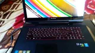 распаковка и микро обзор ноутбука Lenovo Y70-70 Touch