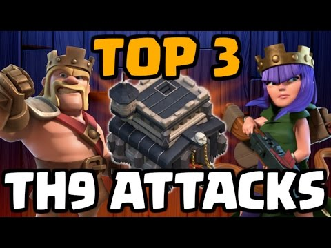 Top 3 Best TH9 Attack Strategies for War 2017 | 3 Star Attacks | Clash of Clans