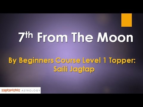 7th From The Moon: Research By Beginners Course Level 1 Topper 'Saili Jagtap'