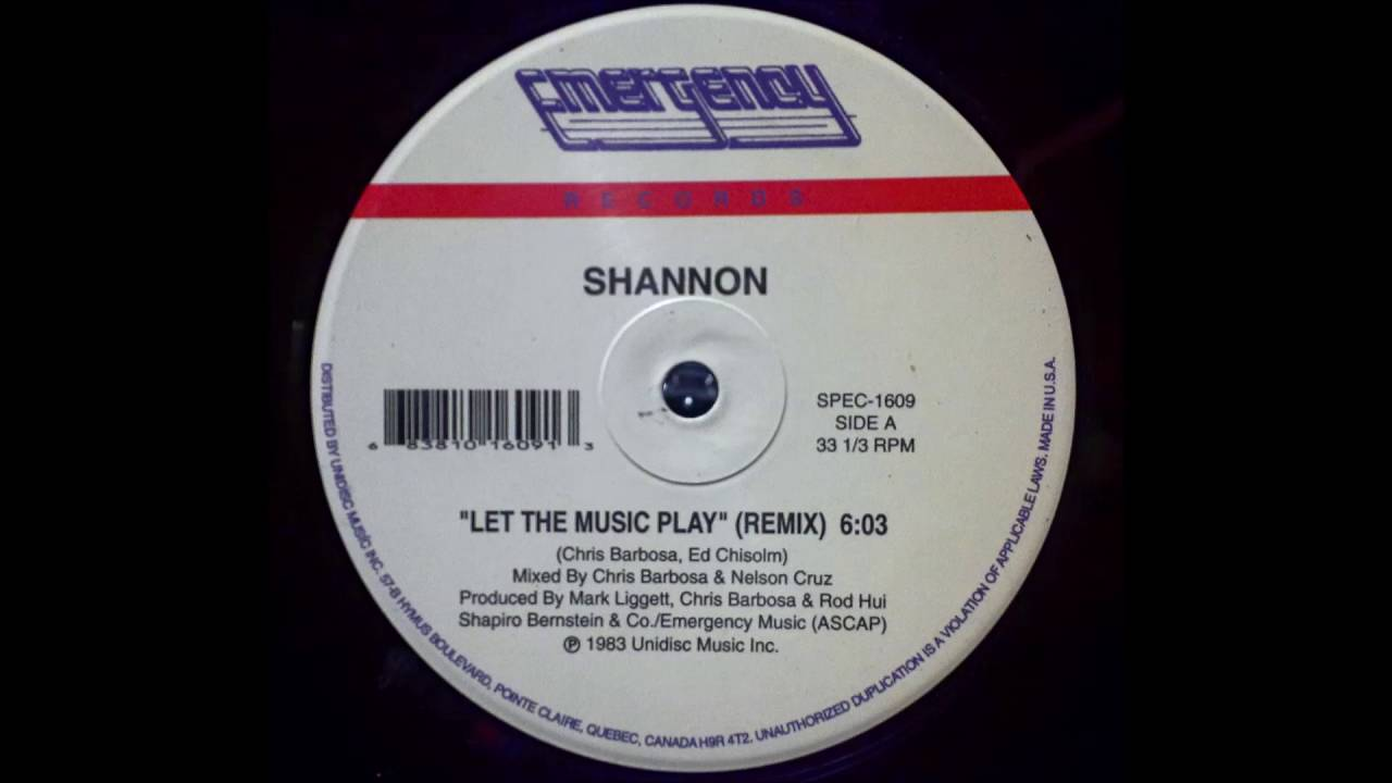 SHANNON   LET THE MUSIC PLAY  REMIX