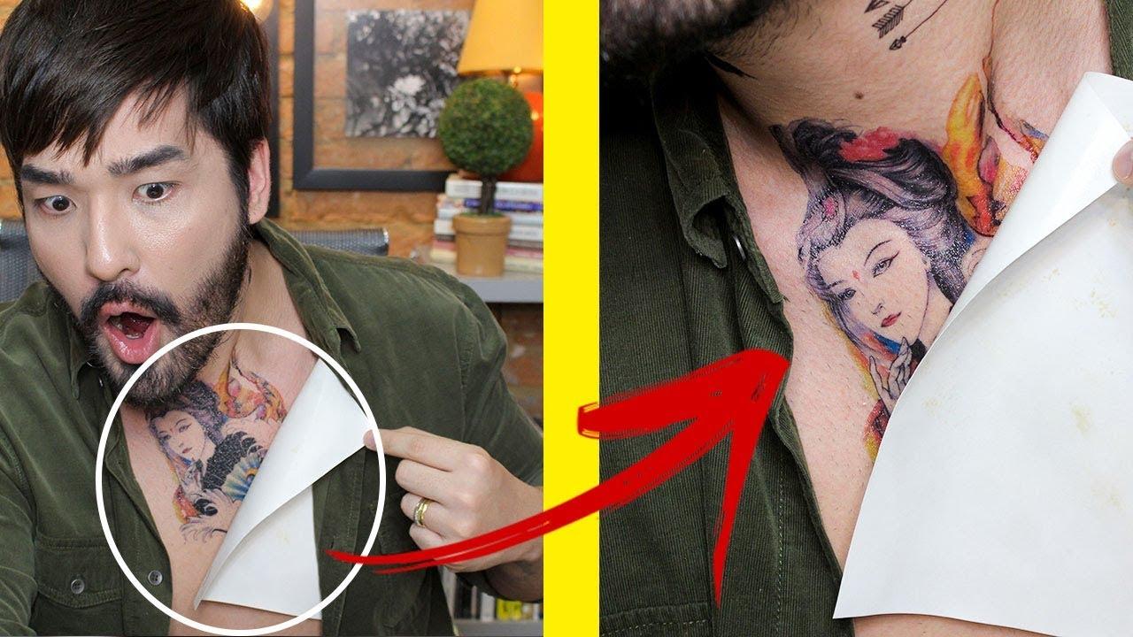 Como Ter Uma Tatuagem Falsa Muito Realista é Incrível