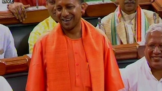 full speech i m one year younger cm yogi takes a dig at rahul gandhi in ls
