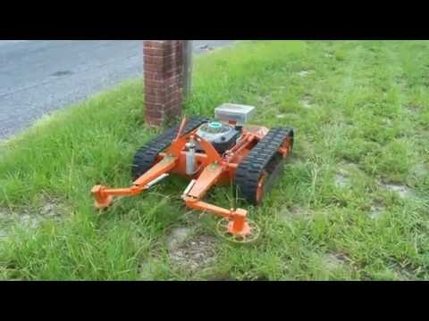 Remote Control Tracked Slope Mower Youtube
