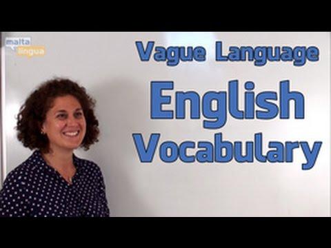 Vague Language - English Vocabulary Lesson (CEFR Level C1)