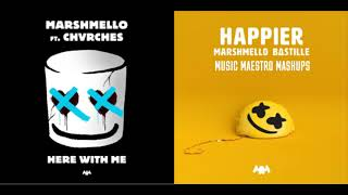 """Happier Here With Me"" [Mashup] - Marshmello, Bastille & CHVRCHES Video"
