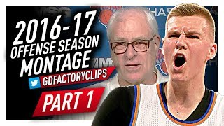 Kristaps Porzingis Offense & Defense Highlights Montage 2016/2017 (Part 1) - NY All-Star!