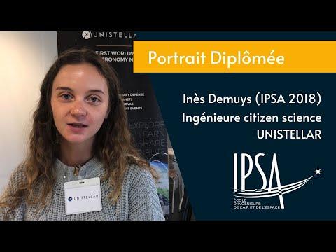 Portrait diplômée - Inès Demuys (IPSA promo 2018) - Ingénieure citizen science - UNISTELLAR