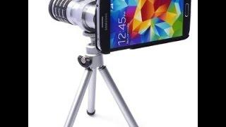 Lente Zoom óptico para Samsung Galaxy S5 de 12X. UNBOXING,DESEMPAQUETADO,REVIEW,ANÁLISIS.