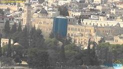 Sicht vom Ölberg auf Jerusalem mit der Altstadt in Israel
