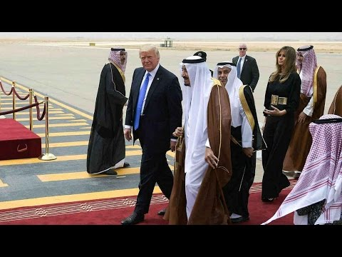 Trump arrives in Saudi Arabia for first foreign trip as president