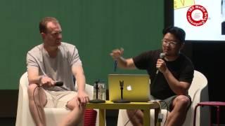 Chris Unwin (The Creator Class) & Jeff Hamada (Booooooom) at 180 Media Arts Conference