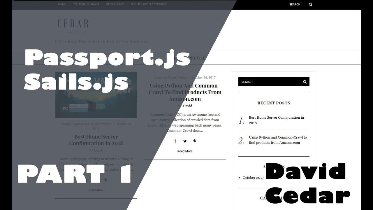 Passport js implementation with Sails js V1 | Part 1