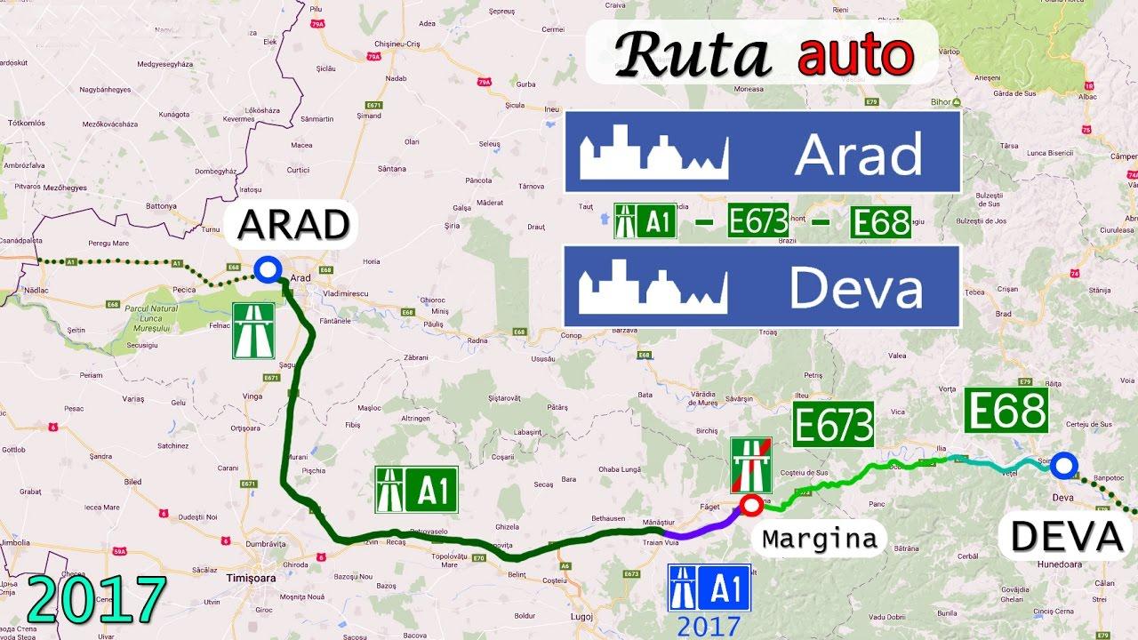Ruta Arad Deva A1 Nou Deschisa Youtube