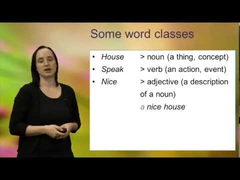 Word classes (open and closed classes)