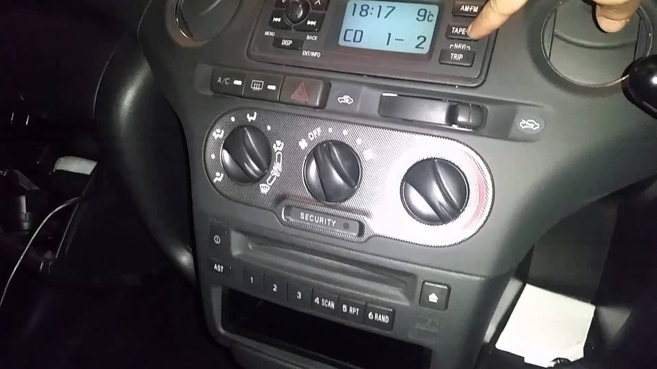 2007 Yaris Stereo Wiring Diagram Toyota Yaris T Sport Usb Aux Cd Player Youtube