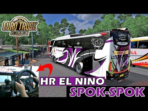 Euro Truck Simulator 2 Indonesia - Haryanto El Nino Bus Racing - Logitech G29 + Gear Shifter - 동영상
