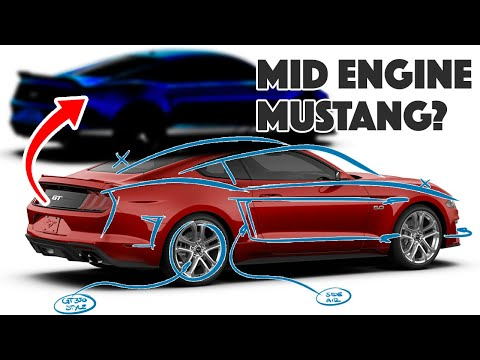 Designer creates MID-ENGINED Ford Mustang - C8 competitor?