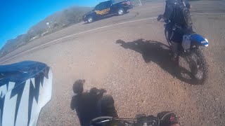 dirt bikes vs cop   plus dirt biking hill climbing fails