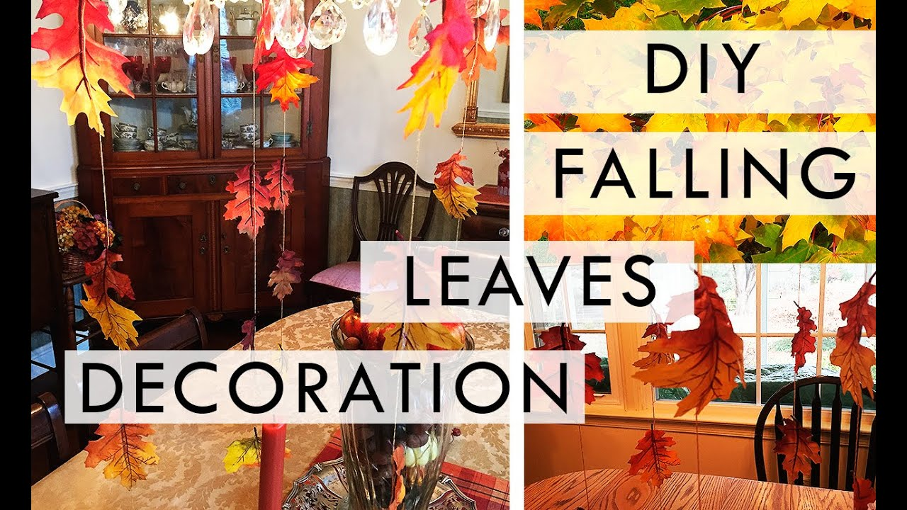Diy Falling Leaves Decoration Youtube