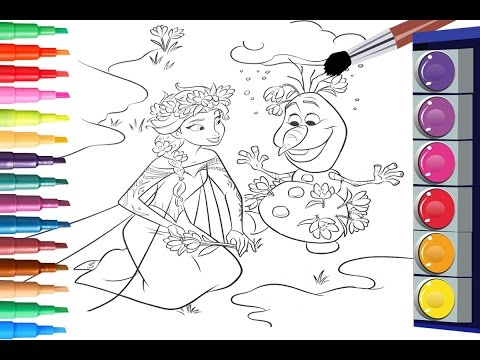How To Color Disney Frozen Coloring Book