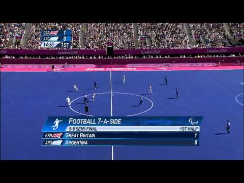 Football 7-a-side - GBR vs ARG - Men's Semifinal 1 - 1st Half - London 2012 Paralympic Games