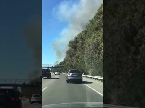 Petaluma homes burn along Highway 101
