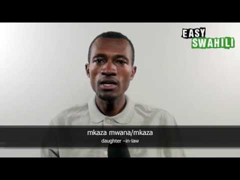 Easy Swahili - Basic Words: in the Family