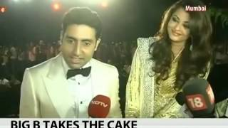 Abhishek Bachchan & Aishwarya Speaks to media at the Big B